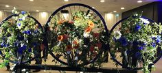 Beautiful ornament made from old bicycle wheel!