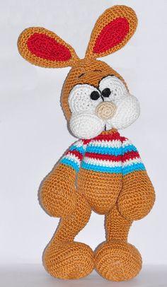 crochet pattern amigurumi easter bunny rabbit by MOTLEYCROCHETCREW