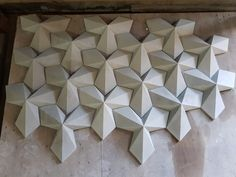 Panozzo Coatings Model - wall design - Welcome Haar Design Concrete Art, Concrete Projects, Concrete Design, Wall Tiles Design, Wall Art Designs, Wooden Wall Art, Wood Art, Origami Architecture, Abstract Geometric Art