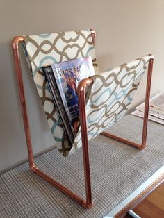 Copper magazine rack complete!