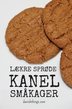Danish Dessert, Danish Food, Sweets Recipes, No Bake Desserts, Christmas Goodies, Macaroons, Kids Meals, Food And Drink, Treats