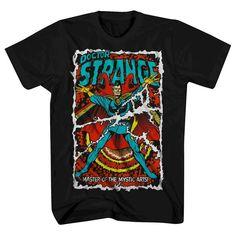 Doctor Strange Men's Comic Cover T-Shirt Black Xxxlt, Size: Xxxl Tall