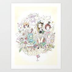 ALICE IN WONDERLAND  Art Print by GABI FVENTES  - $14.56
