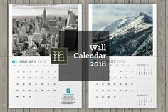 Wall Calendar 2018 (WC31) by mikhailmorosin on @creativemarket