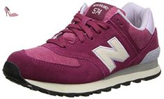 New Balance 574, Bas Mixte Enfant - Rose (Pink/White), 37.5 EU