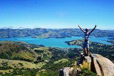 Akaroa, Canterbury, New Zealand #akaroa #destinationnz #nz #newzealand #southisland #bluelake #bluewater #mountains #view #purplepeak #travelpictureoftheday #kingoftheworld #paradise #travel #wanderlust #purenewzealand