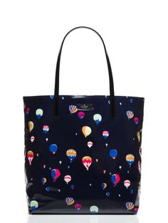 """the handbag: it's your constant companion, your security blanket, your way-more-than-an-accessory accessory SIZE - 13.5""""h x 12.3""""w x 5.1""""d - drop length: 9.45"""" MATERIAL - printed coated poplin - custo"""