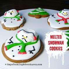 Amy's Cooking Adventures: Melted Snowman Cookies: SRC