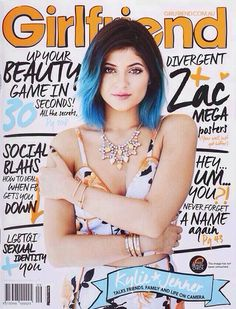 Kylie on the cover of girlfriend magazine