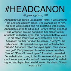 Percy is protective over Annabeth, even in his sleep. Oh gods. Percabeth is soo cute! <3
