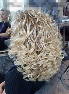 Image result for long hair loose spiral perm