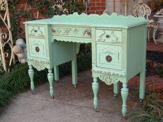 Writing Desk - Turquoise