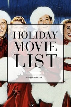 17 of the best holiday movies ever to watch on Christmas Eve! I absolutely LOVE The Holiday! White Christmas and It's a Wonderful Life are my faves, too! Christmas Time Is Here, Merry Little Christmas, Noel Christmas, Winter Christmas, Winter Holidays, Christmas Ideas, Christmas Planning, Christmas Blessings, Christmas Porch