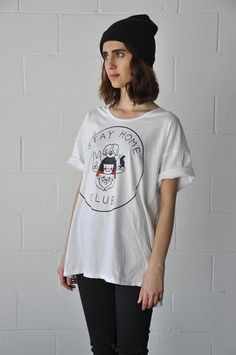 Stay Home Dogs loose tee