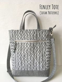 Finley Tote (new pdf pattern) s.k handmade: Finley Tote (new pdf pattern) Bag Patterns To Sew, Tote Pattern, Sewing Patterns, Wallet Pattern, Fabric Scissors, Patchwork Bags, Crazy Patchwork, Bag Making, Purses And Bags