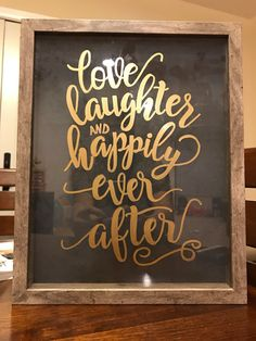 Love Laughter Shadow Box by KEVLE on Etsy