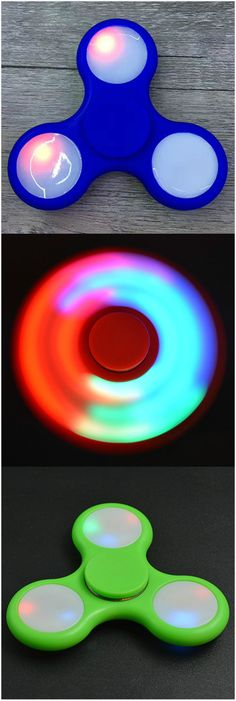 $4.58 Anti-Stress Toy Color Changing LED Fidget Finger Spinner