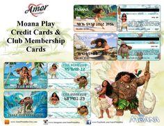 Disney Moana Pretend Credit Cards & Membership by AmorPrintables Printable Play Money, Disney Money, Disney Pixar, Moana Party, Walt Disney Pictures, Halloween Coloring, Preschool Classroom, Pretend Play, Party Printables