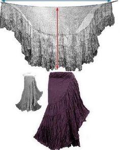 Sewing Skirts Ruffled Wrap skirt dress by Ирина Дубровская Diy Clothing, Sewing Clothes, Clothing Patterns, Sewing Patterns, Gypsy Clothing, Simple Clothing, Steampunk Clothing, Steampunk Fashion, Dress Skirt