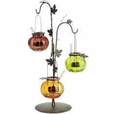 Hanging Pumpkin Tealight Holder