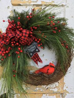 Christmas Wreath for Door, Cardinal Wreath, Holiday Wreath, Etsy Christmas Wreath