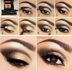 Gold Smokey Eye Makeup How To Do Smokey Eye Makeup Top 10 Tutorial Pictures For 2019 Gold Smokey Eye Makeup Gold And Black Smokey Eye Makeup Tutorial Glittery Smokey Eye. Gold Smokey Eye Makeup How To Do Smokey Eye Makeup Top 10 Tutori. Cat Eye Makeup Tutorial, Smokey Eye Makeup Tutorial, Eye Makeup Tips, Love Makeup, Makeup Tutorials, Makeup Ideas, Makeup Case, Makeup Geek, Makeup Addict
