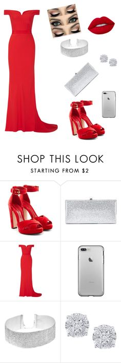 """Red Silver"" by msg-4ever ❤ liked on Polyvore featuring Alexander McQueen, Jimmy Choo and Effy Jewelry"