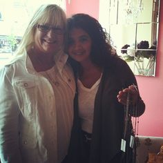 Karen Telio, a jewelry designer from Vancouver, and Marilyn, a very loyal customer of Cadeaux! :-) #KarenTelio