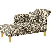 Floral Chaise Longue - Chocolate.