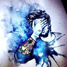 1D One Direction - Zayn Malik fanart || painting (: ... this is awesome!!!