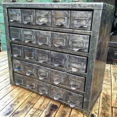 On the market is an amazing Vintage Industrial 25 drawer cabinet me...