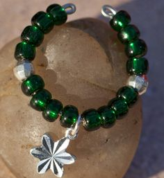 Silver Lined Beads - Emerald
