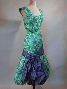 ~evening dress  Morton, Digby  Europe, United Kingdom, England, London  1955~