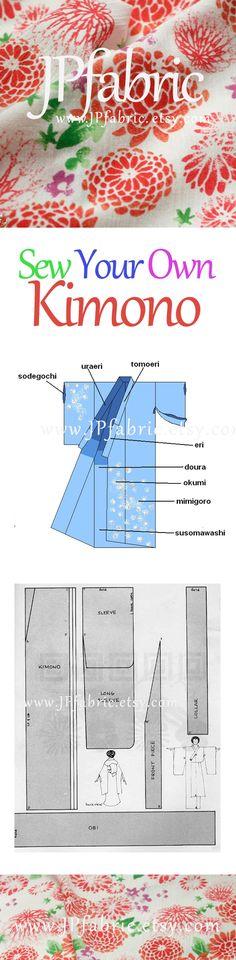 kimono pattern easy. How to sew kimono ?