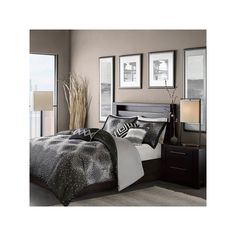Madison Park Crawford 7-pc. Comforter Set, Black #Comfortersets
