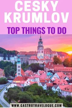The best things to do in Cesky Krumlov, Czech Republic -#czechrepublic #stay #foodie #traveltips #europe #travelblogger #travel #easterneurope #ceskykrumlov #travelblog #Czechia #UNESCO #gastrotravelogue