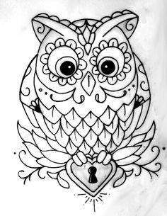Owl tattoo idea