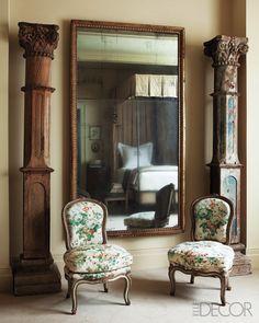 Salvaged columns; Suzanne Rheinstein - it's the mirror I want!!!