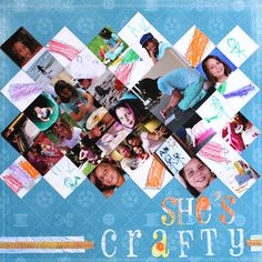 Using grids for scrapbook layouts