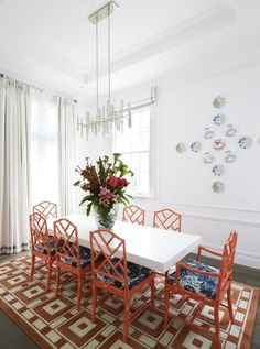 Greg Natale   Sydney based architects and interior designers  love the pop of colour and the style of the chairs!