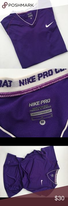 NIK pro tee Excellent used condition/ NO trades / make offers/ ask questions/ pet free smoke free home / happy poshing 💕🍷 Nike Tops