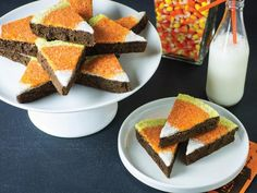 Candy Corn Brownies - 40 Sweet and Salty Halloween Snack Recipes on HGTV