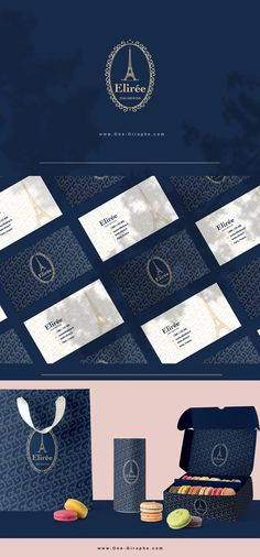 Elirée - Brand Identity for Sale! www.One-Giraphe.com #brandidentity #brand #macarons #macaroons #french #logo #logodesign #logodesigner Bakery Branding, Bakery Logo, Branding Design, Logo Design, Art Director, Macaroons, Logo Inspiration, Brand Identity, Creative Art