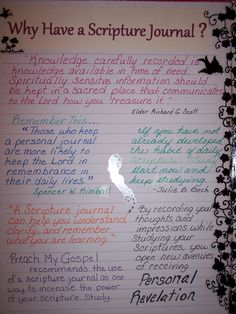 Jans Why we Scripture Journal - This would be a great gift in the front of a journal when kids turn 12.