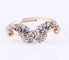 Yasurs™ 2014 New Arrived Fashion Elegant Drill Full Rhinestone Moustache Gold Ring. http://www.yasurs.com/yasurstm-2014-new-arrived-fashion-elegant-drill-full-rhinestone-moustache-gold-ring-66r712.html #jewelry
