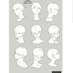 Great art from @_rsq15 🏷 #Art #Drawing #Painting Arte Com Grey's Anatomy, Anatomy Art, Head Anatomy, Face Drawing Reference, Drawing Reference Poses, Reference Manga, Drawing Heads, Drawing Base, Anime Face Drawing