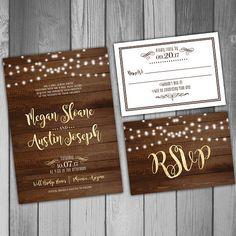Wedding Invitation Printable Wedding Invitation by CLaceyDesign