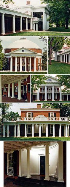 Thomas Jefferson's University of Virginia - Columns on columns on columns.    Charlottesville, VA