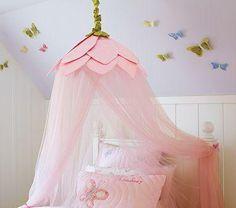 DIY Bedroom Furniture DIY Canopy Bed : DIY PB Knock Off - Rose Petal Canopy