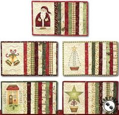 Christmas Mug Rugs, Christmas Patchwork, Christmas Placemats, Crochet Christmas, Diy Quilted Christmas Ornaments, Quilted Placemat Patterns, Mug Rug Patterns, Quilt Patterns Free, Free Pattern